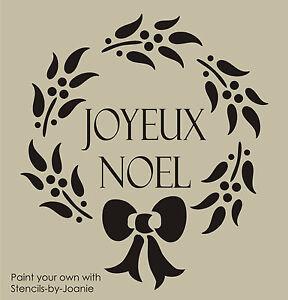 Joanie Stencil Joyeux Noel French Berry Wreath Paris