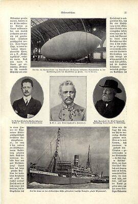 Luftfahrt & Zeppelin Sammeln & Seltenes Wellmanns Nordpolfahrt Motorballon Maschinengalerie Marsfeld Paris Von 1907