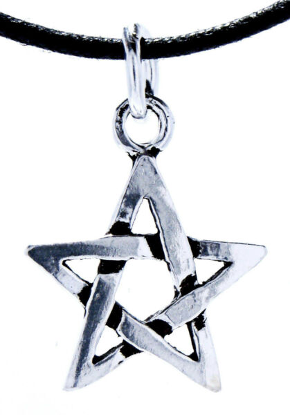 118: Pentagramm Schutzamulett Weiße Magie Zauber Silber 925 Band/kette Anhänger