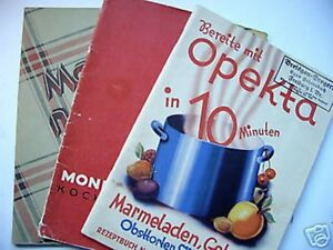 3-Hefte-Kochbuch-Opekta-Mondamin-Man-nehme