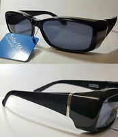 2 Pack Foster Grant Fits Over Sunglasses Polarized Black Silver Medium 100% Uv