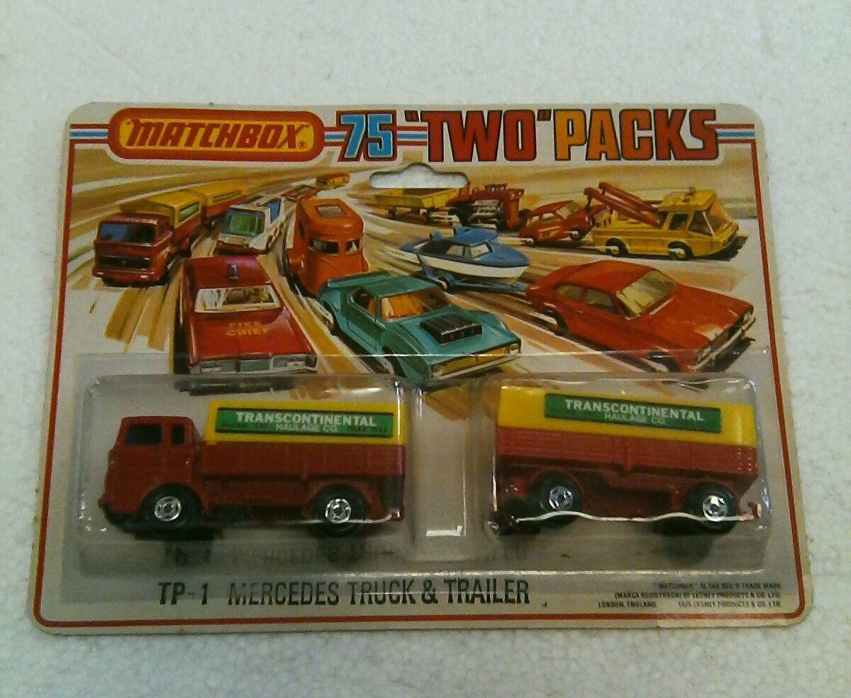 Las ventas en línea ahorran un 70%. Vintage Vintage Vintage Matchbox dos paquetes Transcontinental Camión y remolque de transporte Co.  100% autentico