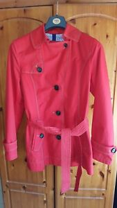 newest collection cfd27 56d18 Details about GIL BRET burnt orange/red short trench coat size 14
