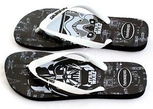 0c92e43be Havaianas Black   White Star Wars Thong Sandals Flip Flops Men s NEW ...