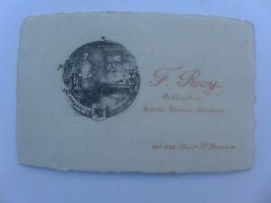 Carte Visite F ROY Bd St Germain PARIS