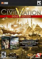 Sid Meier's Civilization V 5 Gold Edition with Gods & Kings PC Brand New Sealed