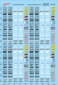 RA01-10 Decal Naßschiebebild Straßenrennen 1 1//10 235x150 mm