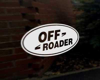 OFF ROADER Car Decal Sticker Land Rover Defender Discovery Freelander