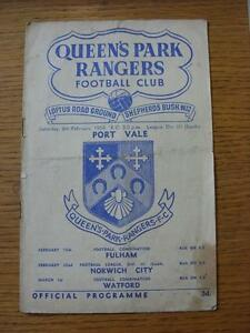 08021958 Queens Park Rangers v Port Vale  Folded Stained Heavy Writing Insi - <span itemprop=availableAtOrFrom>Birmingham, United Kingdom</span> - Returns accepted within 30 days after the item is delivered, if goods not as described. Buyer assumes responibilty for return proof of postage and costs. Most purchases from business s - Birmingham, United Kingdom
