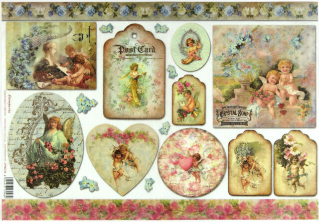 Rice Paper for Decoupage Scrapbooking Sheet Craft Cards 33x49cm- Angels
