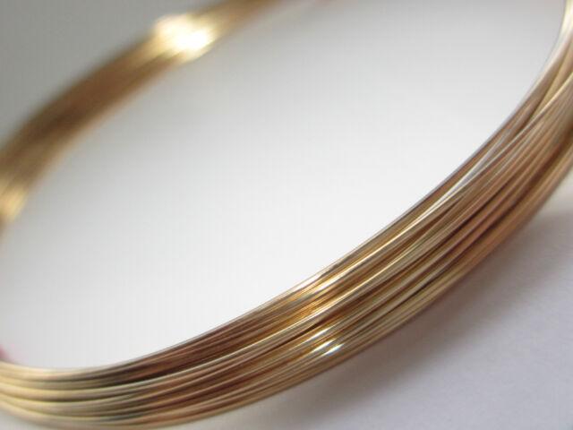 Gold Filled Half Round Wire 18 gauge, 1mm Half Hard 5ft