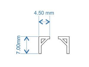 45 LASER CUT SMALL BRACKETS FOR OO SCALE 1:76 MODEL RAILWAY - LX134-OO