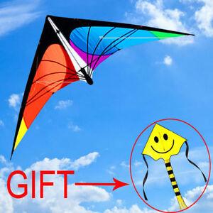 NEW-5-9ft-1-8m-Stunt-Power-Kite-Outdoor-Sport-fun-Toys-novelty-dual-line-Delta