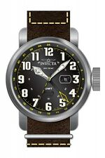 Invicta 18886 Men's Aviator Swiss Parts Brown Leather Band Watch w/GMT