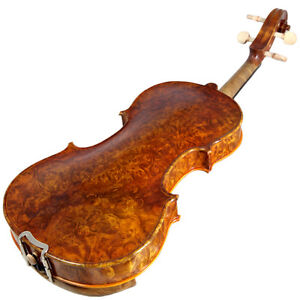 Sky-4-4-NY100-Bird-039-s-Eye-Vintage-Violin-Guarantee-Grand-Mastero-Sound-Violin