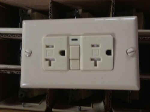 Cooper Ivory Tamper Resistant GFCI Receptacle Rated for 15 and 20-amp circuits