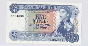 Mauritius 1967  5 Rupees  combine shipping RC0076 combine shipping