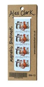 Alex-Clark-Marvellous-Moggies-Cat-Magnetic-Bookmark-Page-Finder-Bookmarks-Gift