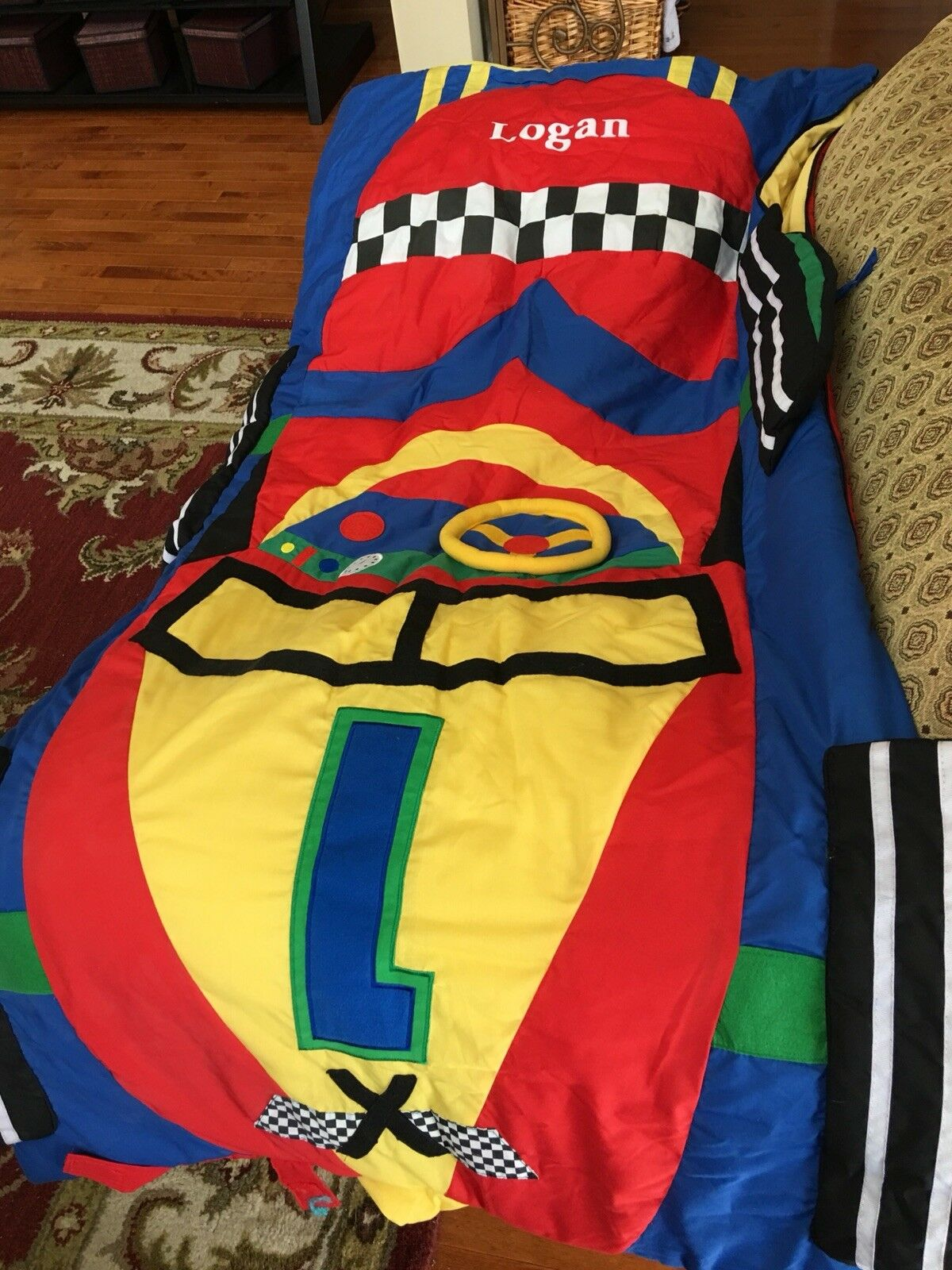 Brilliant Lillian Vernon Kids Racecar Sleeping Bag Personalization Caraccident5 Cool Chair Designs And Ideas Caraccident5Info
