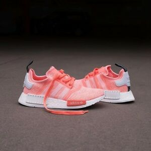2f981ae55 AUTHENTIC adidas NMD R1 Runner Sun Glow White Peach Pink Coral ...