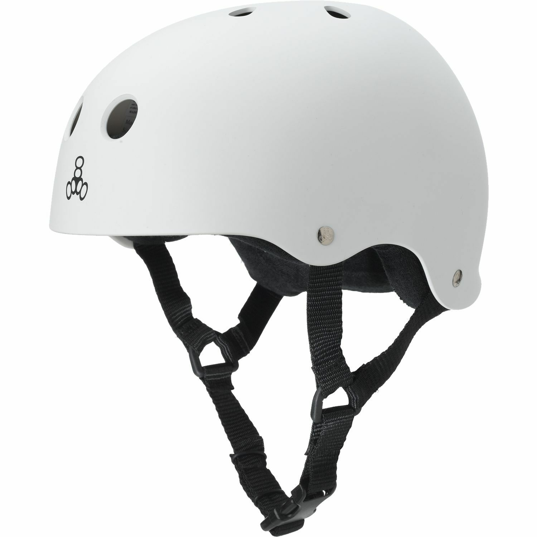 Triple 8 Helmet White Rubber-  XX-LARGE  brand outlet