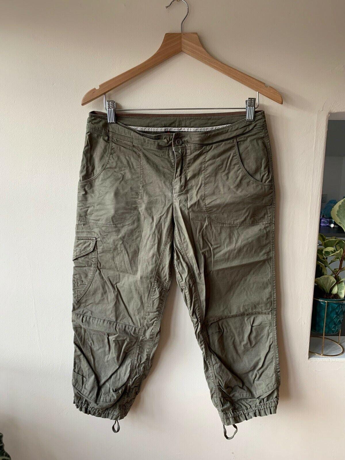 The North Face Green Walking/Hiking Trousers, EU 6 Regular, 30W   (UK 8-10?) 3/4