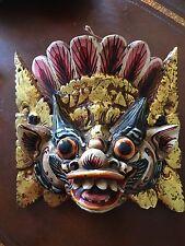Balinese Barong Mask Bali Wall Art Carved Wood