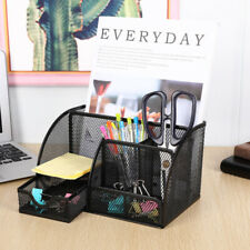 Mesh Metal Office Supplies Desktop Table File Desk Organizer Pencil Pen Holder