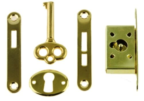 GOLD PLATED MUSIC BOXES,OR JEWELRY BOXES SMALL BOX LOCK K-40-B FOR HUMIDORS