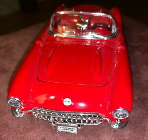1957 Chevy Corvette Convertible In A Red 1:24 Scale Diecast From Superior dc1785