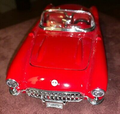 Black 29393-1//24 Scale Diecast Model Toy Car Welly 1957 Chevy Corvette Convertible