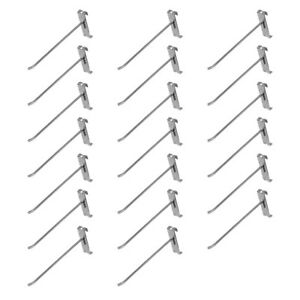 """20 Pc Chrome 8/"""" Long Gridwall Hooks Grid Panel Display Wire Metal Hanger Retail"""
