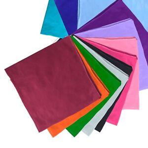 Unifarben Bandana Einfarbig Tuch Kopftuch Halstuch viele Farben 100/% Baumwolle