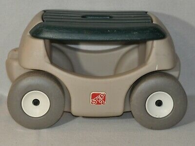 Step 2 Garden Hopper Rolling Seat Yard Bench Wheeled Cart