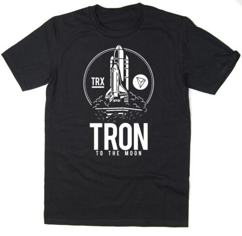 TRON To The Moon T-Shirt BTC $TRX Bitcoin Crypto 6 colours