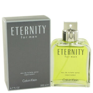 Details about ETERNITY by Calvin Klein 6.7 oz 200 ml EDT Cologne Spray for Men New in Box