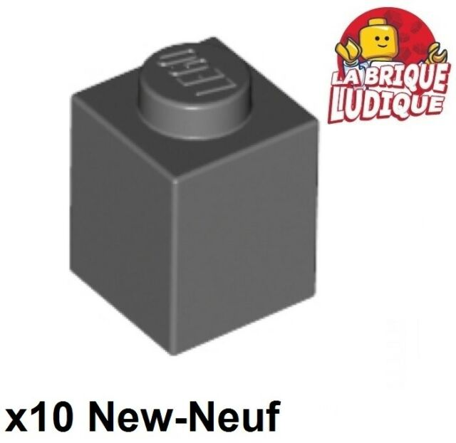 Lego 10 Dark Bluish Gray 1x1 round brick NEW