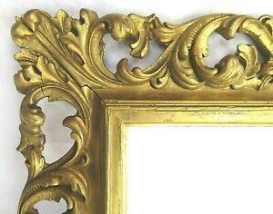 "Antique Fits 9"" x 12"" 19th Century Ornate ROCOCO Gold Gilt Italian Wood Frame"