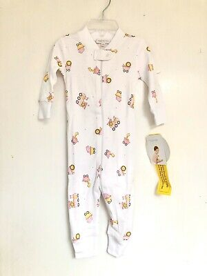 Magnolia Baby Girls 'Love you a Latte' Zipped One-Piece Pajamas Size 2T NEW