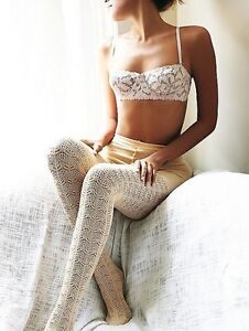 Free People Voyager Pointelle Sweater Tights One Size Fits Most Retails $28.00