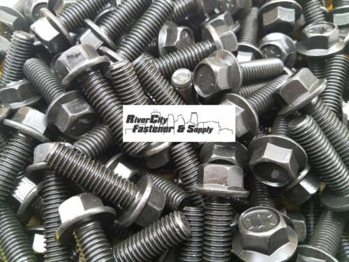 Cap Screws 7//16x1-1//2 100 7//16-14x1-1//2 Grade 8 Hex Head Flange Frame bolt