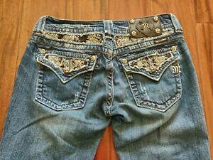 Miss Me Bootcut Jeans Women's 27 Waist 31 Inseam JP6053B