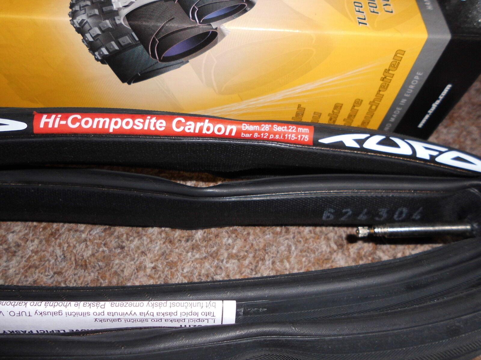 Schlauchreifen Tufo Hi  composite Carbon Carbon Carbon 22mm.8-12 bar.  NEU 0c1c0f