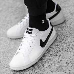 tela mareado Esquivo  Nike Court Royale Zapatilla Zapato Zapato para Hombres Beyaz Blanco Negro  574236-100 | eBay