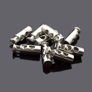 Neu Klammern Verschluss Ziehschnur 10x Feder Knöpfe Zylinder Für Tasche Kleidung