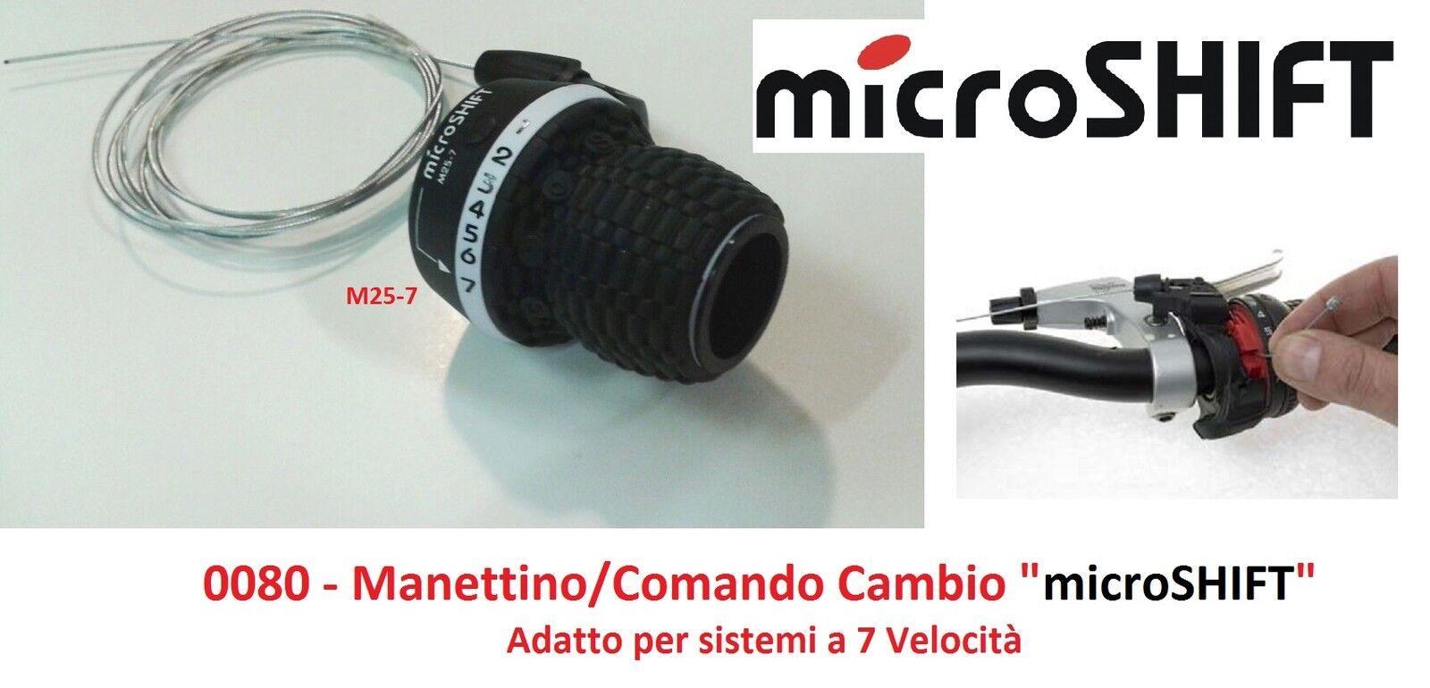 Comando Cambio Destro 7V MS25 Compatibile Shimano Microshift Bicicletta Grip