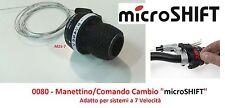 """Manettino/Comando Cambio DX """"microSHIFT"""" 7 Velocità per Bici 20-24-26 Graziella"""