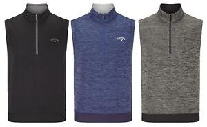Callaway-Golf-Heathered-Fleece-1-4-Zip-Vest-Sleeveless-RRP-50-ALL-SIZES
