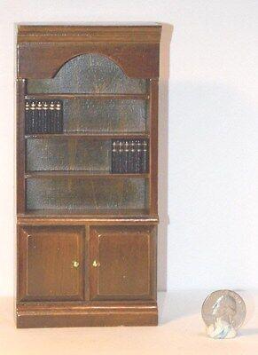 Dollhouse Miniature Walnut Bookcase w Books 1:12 inch scale N41 Dollys Gallery