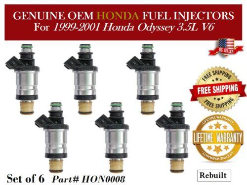 6 Fuel Injectors OEM Keihin for 1999-2001 Honda Odyssey 3.5L V6 #HON0008